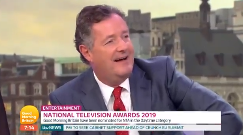 Piers Morgan makes dig at Ant McPartlin being nominated for TV award
