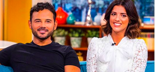 Lucy Meck dismisses split speculation after Ryan Thomas leaves party in tears