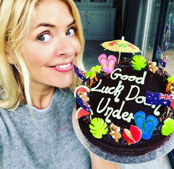 Holly Willoughby shares I'm A Celebrity picture