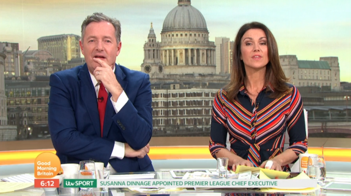 Lord Alan Sugar outrages GMB viewers as he jokingly appraises Susanna Reid's style
