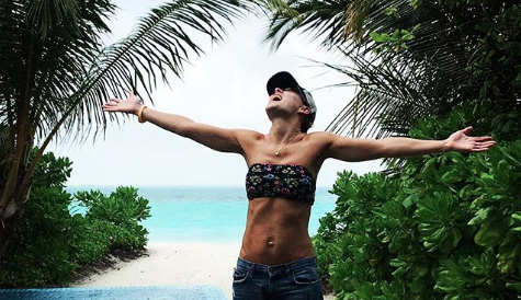 Emma Willis gives glimpses of her idyllic holiday to the Maldives in cute family snaps