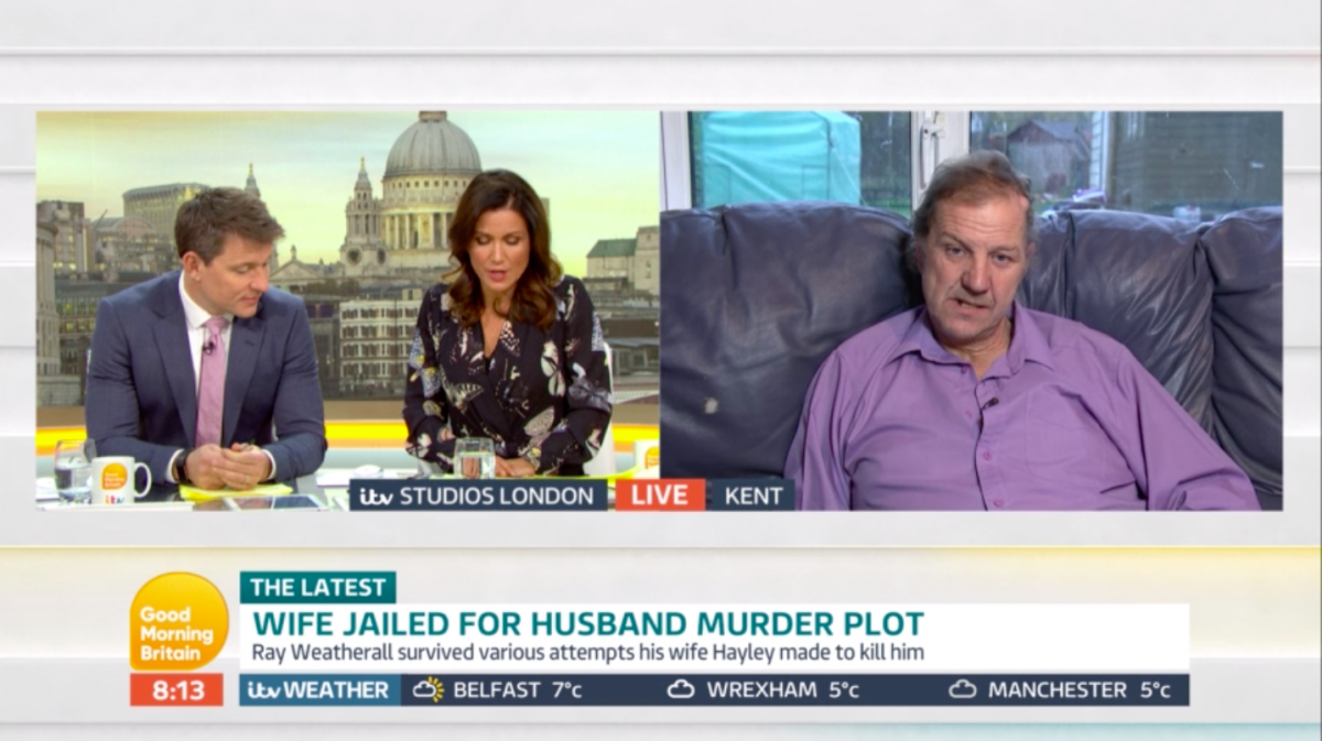 GMB guest says he still loves the wife who tried to murder him