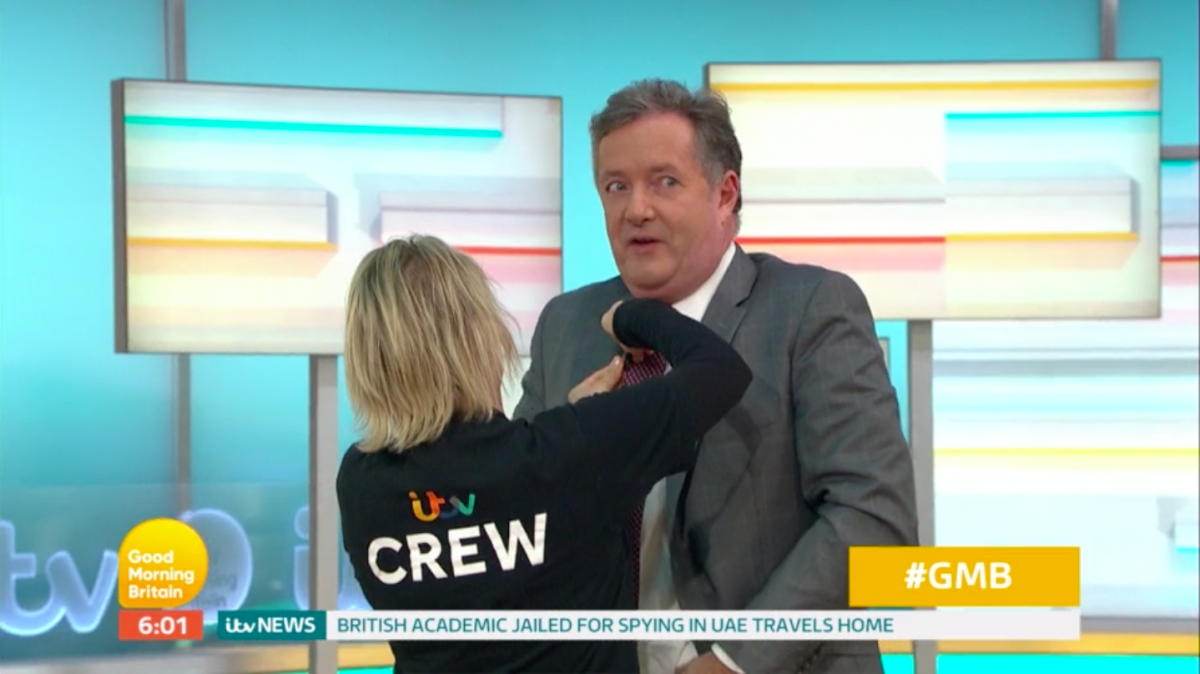 GMB in chaos as Piers Morgan arrives on set four seconds before going on air