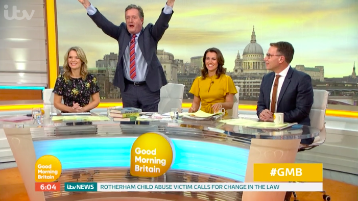 Piers Morgan makes a scene on GMB set as he starts yet another feud