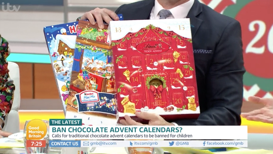 GMB viewers slam guest who wants to ban advent calendars for kids