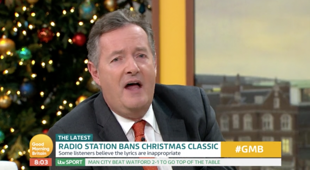 Piers Morgan rages after Baby It's Cold Outside is banned by radio stations