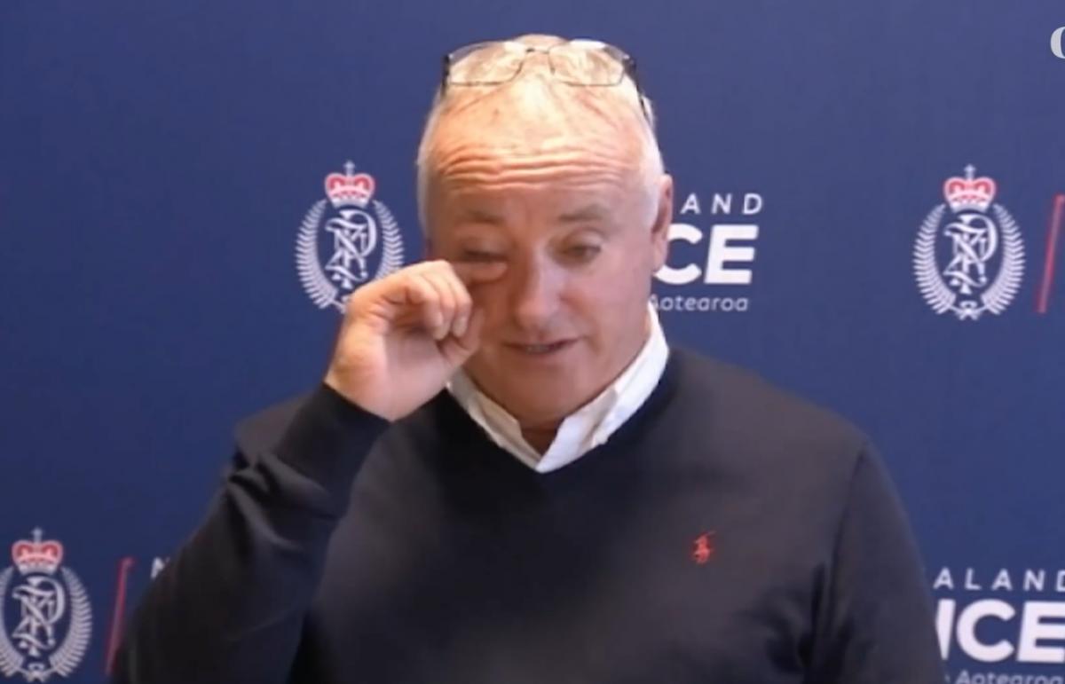 David Millane breaks down as he makes the appeal