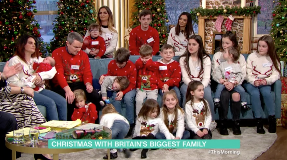 The Radfords, Britain's biggest family, show off baby No 21