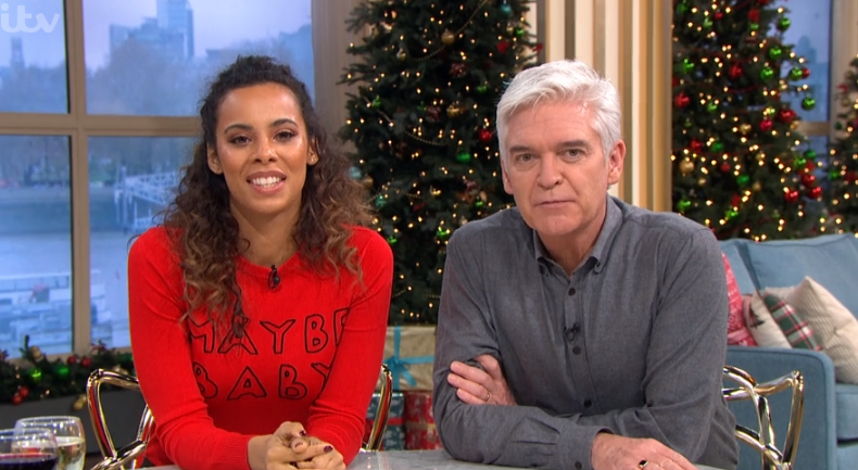 Rochelle Humes shuts down pregnancy rumours on This Morning