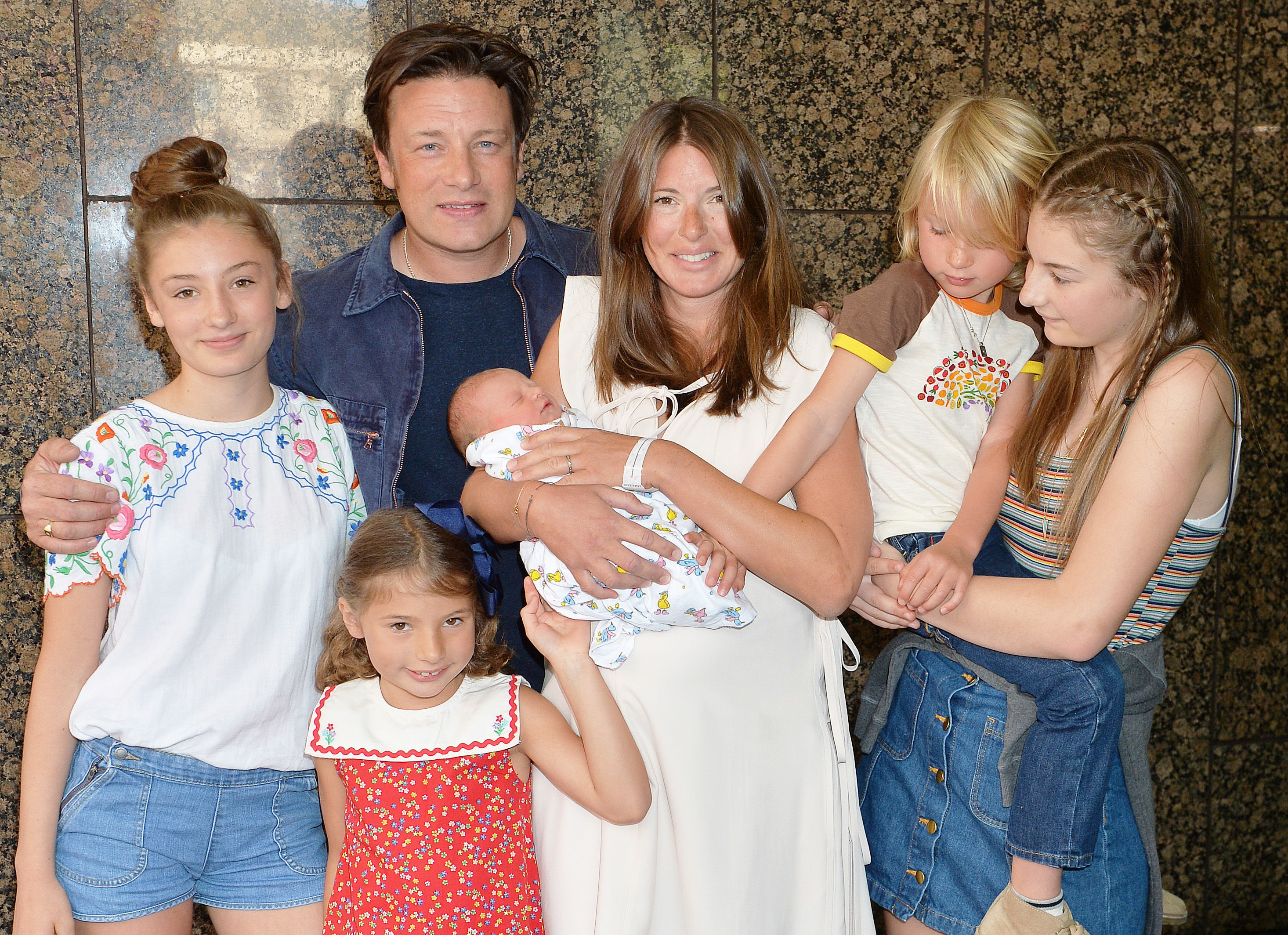 TV chef Jamie Oliver is jokingly told off by his mum