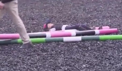 Katie Price doesn't bat an eyelid when daughter Princess FALLS off her horse