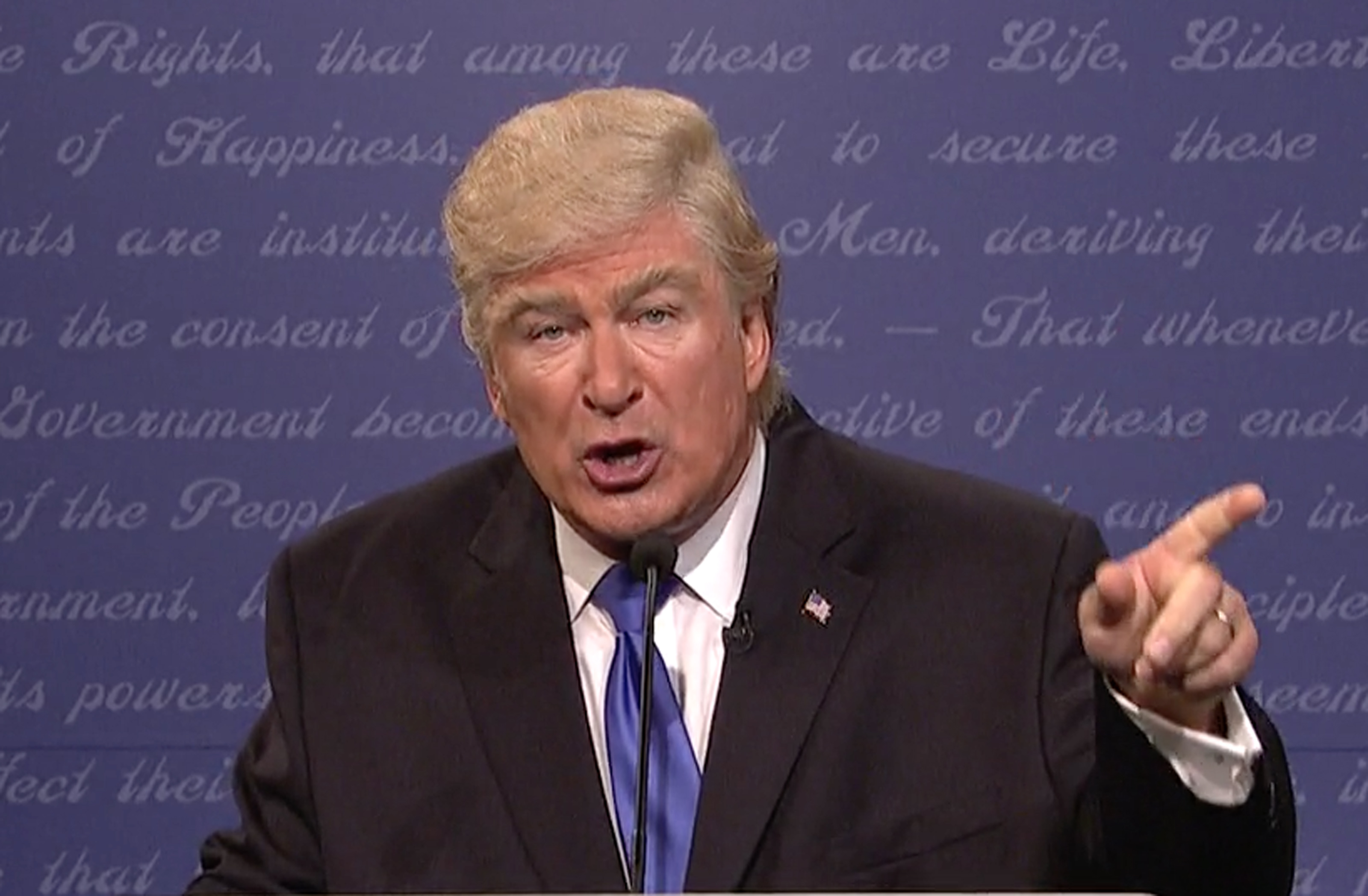 Watch a sniffing and pouting Alec Baldwin nail his Donald Trump impression!
