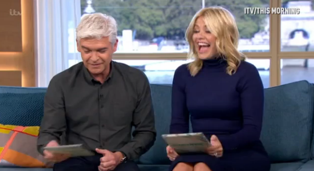 Holly Willoughby giggles inappropriately after making paedophile gaffe on This Morning
