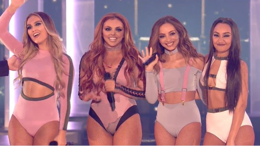Viewers concerned Jesy Nelson had 'a little accident' on stage