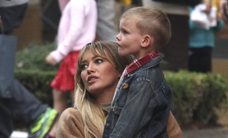 Hilary Duff hits back at criticism over kissing young son on lips