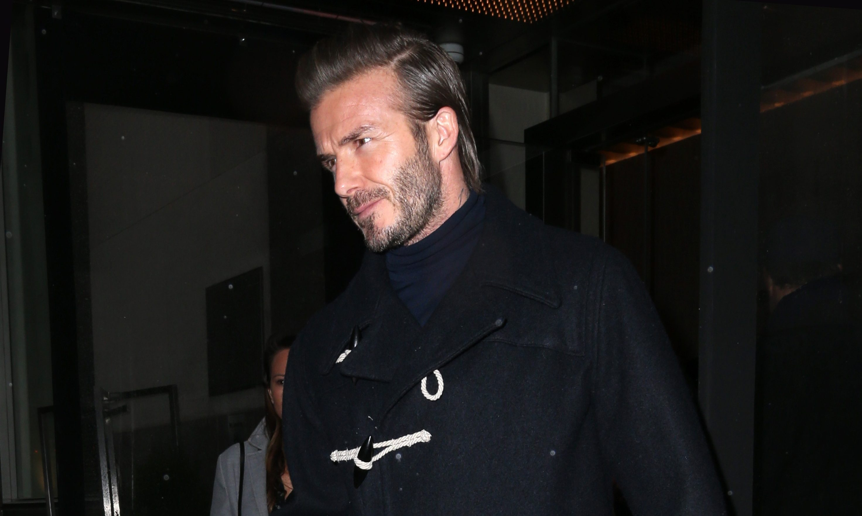 David Beckham forced out of pub by 'hooligans'