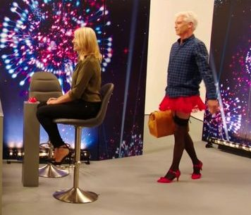 Phillip Schofield wears stockings AND heels for hilarious TV skit