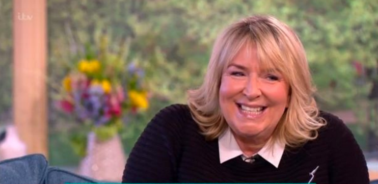 Fern Britton shows off her hidden tattoo during This Morning