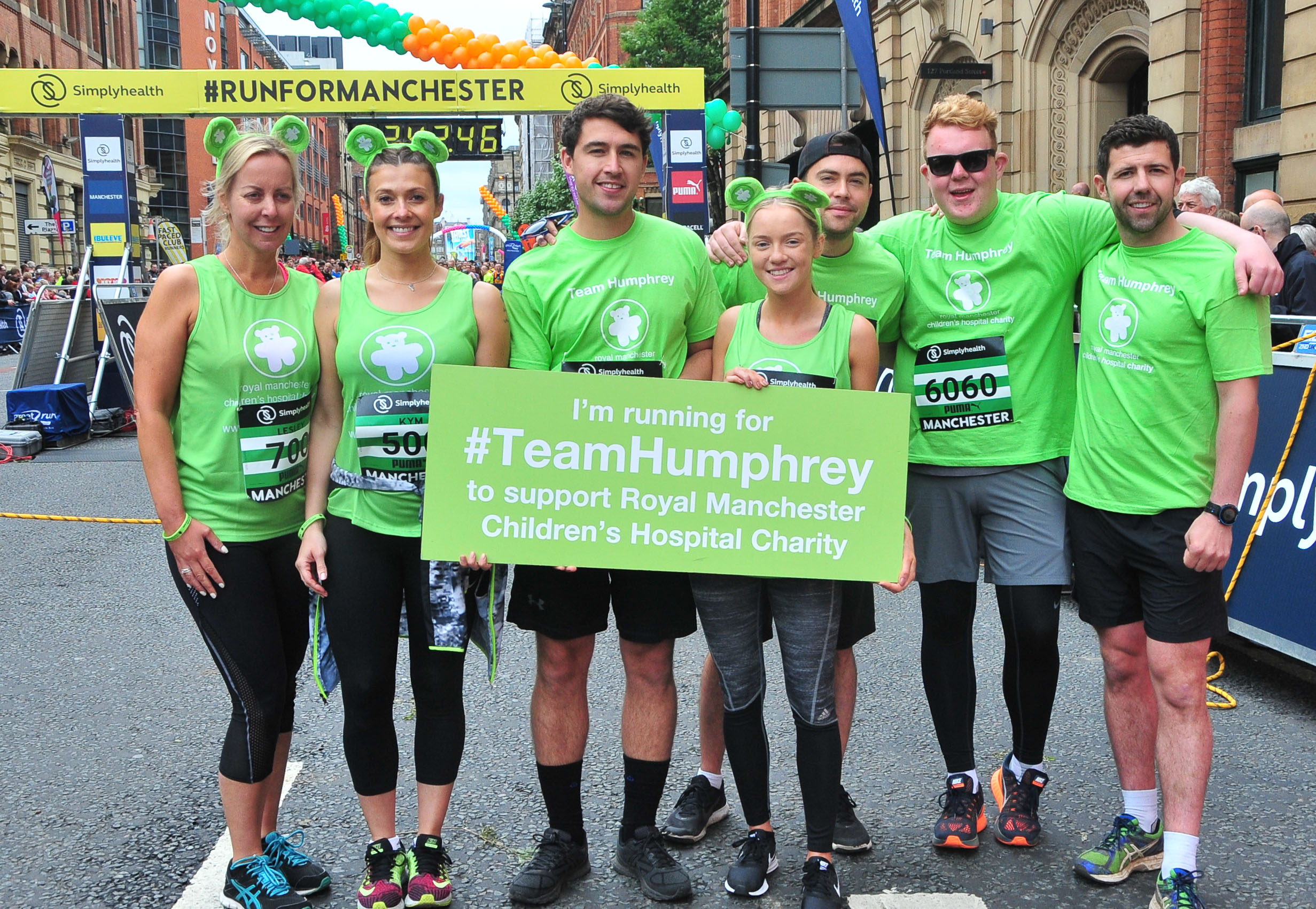 Kym Marsh leads stars on emotional Manchester run
