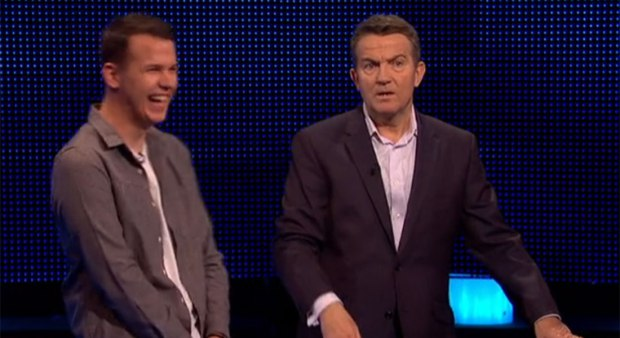 The Chase host Bradley Walsh cheekily clips contestant round his ear for buzzing too soon