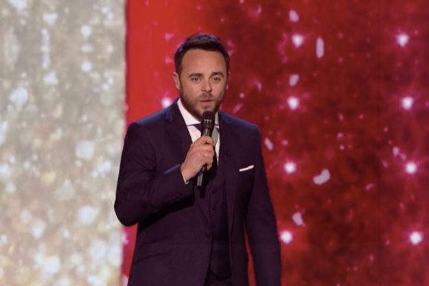 The reason Ant McPartlin is wearing a leg brace REVEALED
