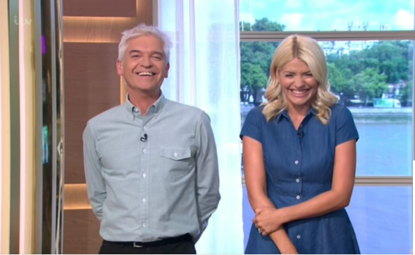 Phil Schofield jokes Holly is in danger of wetting herself as she giggles on This Morning