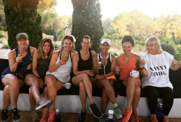 Loose Women ladies smuggle 'contraband' into Ibiza fitness camp