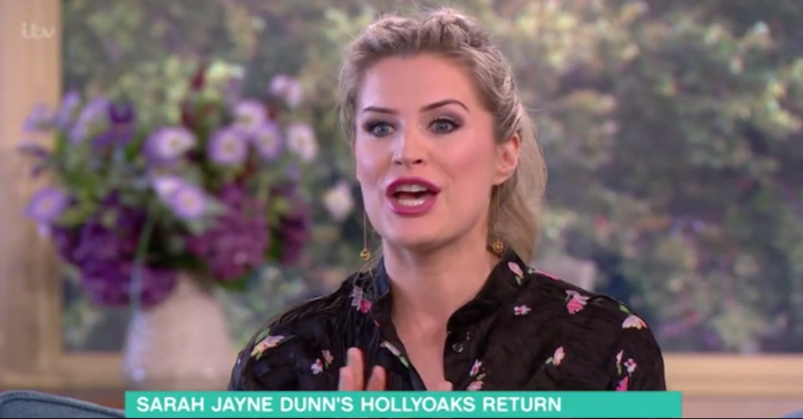 Sarah Jane Dunn revealed this secret about her Hollyoaks return on This Morning