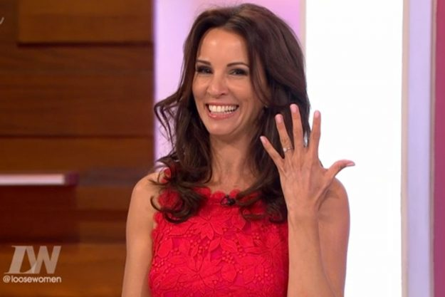 Andrea McLean responds to mean Tweet about her engagement
