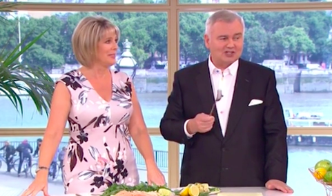 This Morning viewers bemused as Ruth and Eamonn eat salmon cooked in a DISHWASHER!