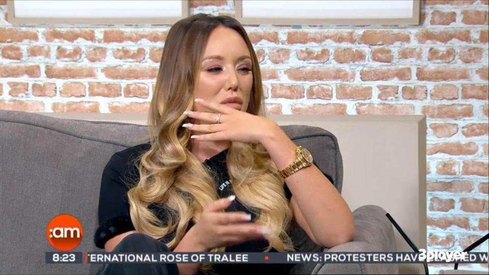 Charlotte Crosby breaks down on live TV hours after ex Gaz announces baby news