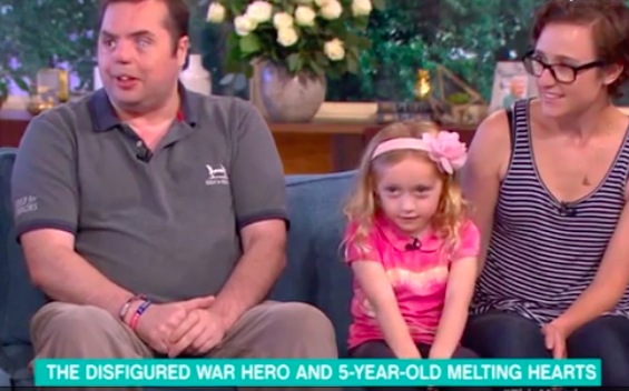 This Morning viewers hearts melted by war hero and fundraising five-year-old