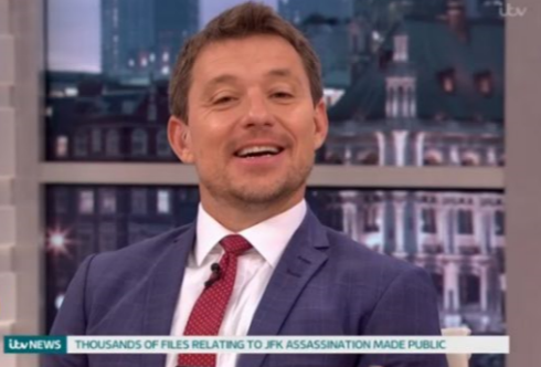 GMB viewers rush to Kate Garraway's defence after Ben Shephard mocks her 'Quality Street' dress