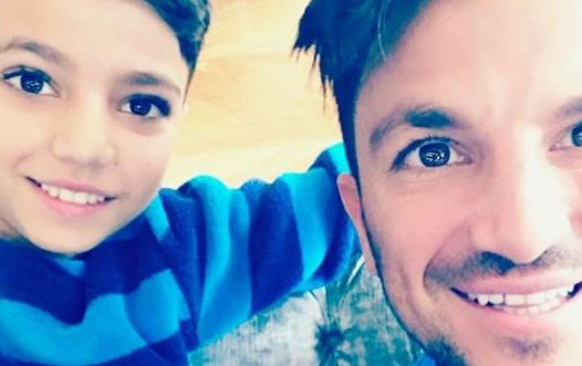 """Peter Andre says it's """"scary"""" that son Junior is nearly a teen"""