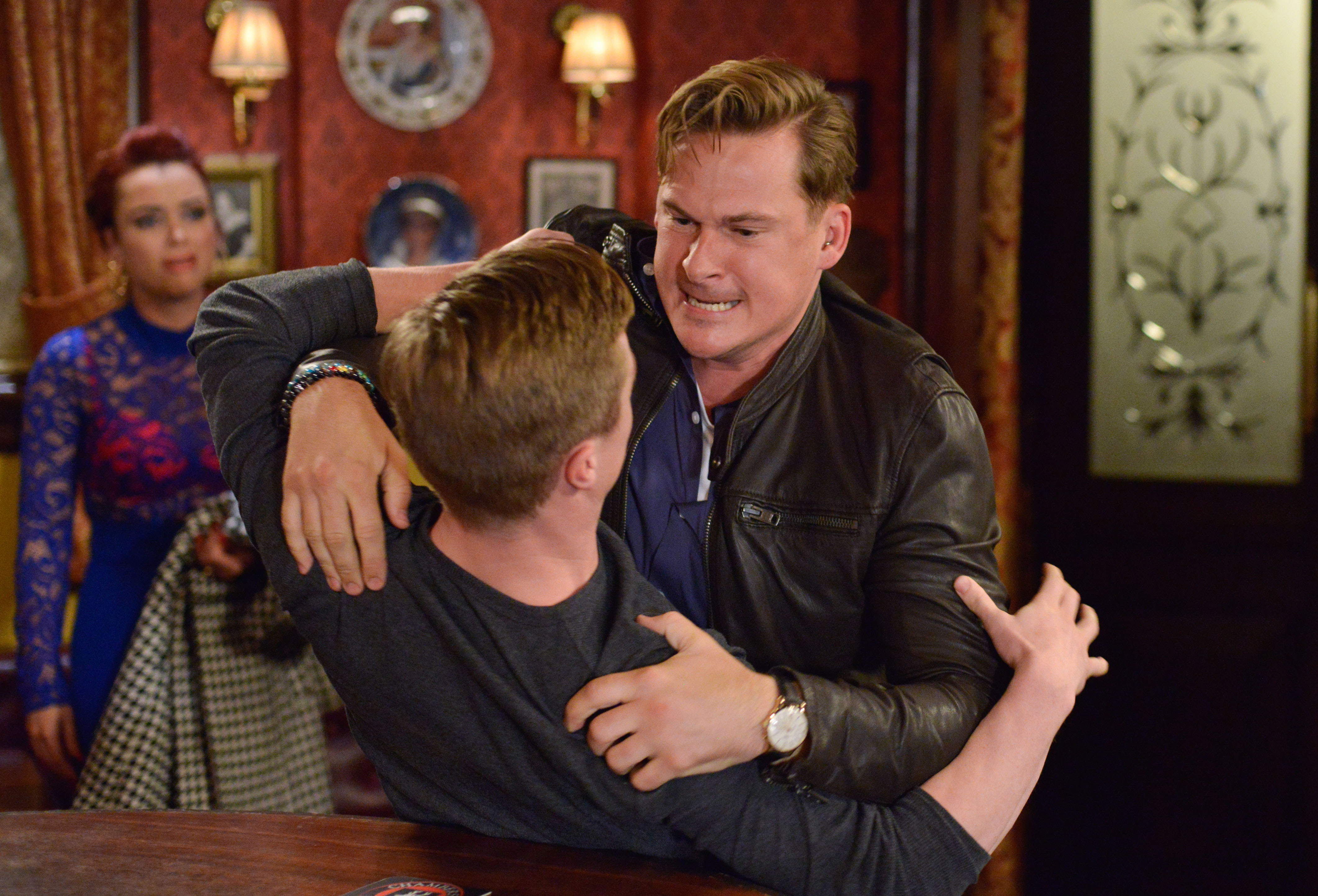 EastEnders' Woody attacks Moose before Whitney puts a stop to it