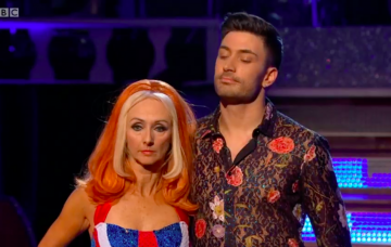 Debbie McGee did not look impressed at being in the bottom two