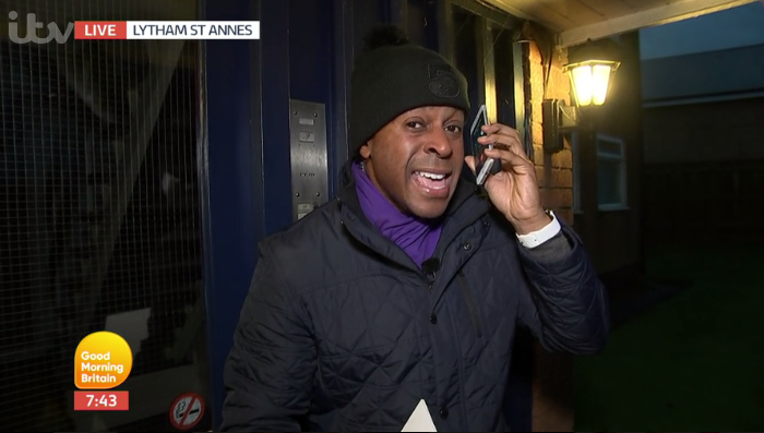 Andi Peters gets a hilariously rude surprise on Good Morning Britain