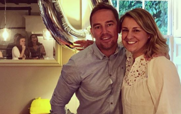 Simon Thomas and his wife Gemma (Credit: Instagram @gemmarthomas)