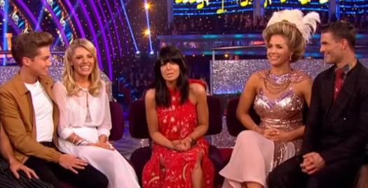 Claudia Winkleman appears to confirm Mollie and AJ's Strictly romance with cheeky joke