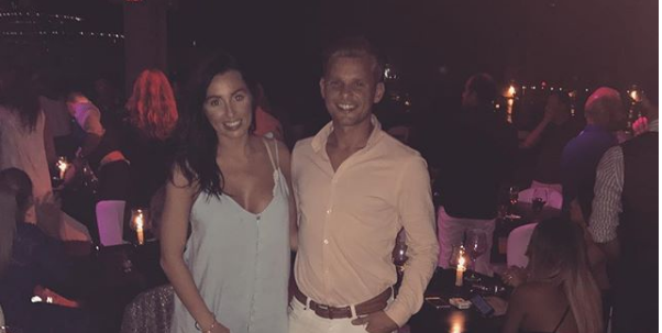 """Jeff Brazier's fiancee posts first-ever """"family photo"""""""