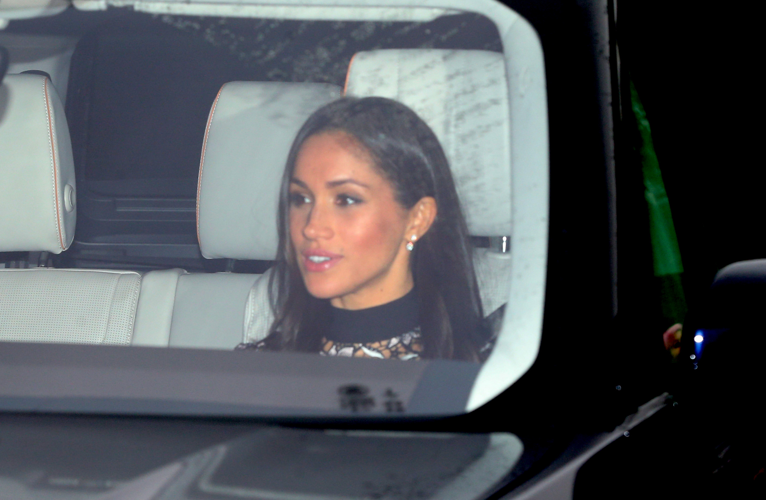 Meghan Markle snapped arriving at Buckingham Palace for Christmas dinner with the Queen