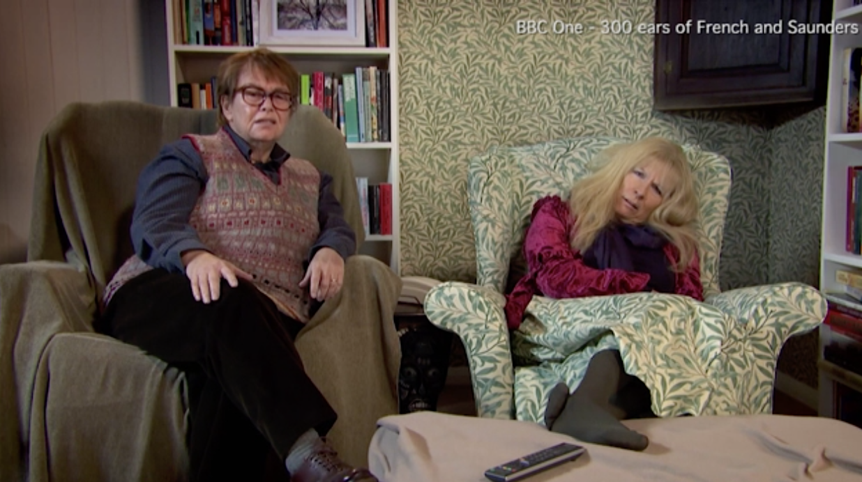 Twitter explodes with delight as French and Saunders reunite as Gogglebox poshos
