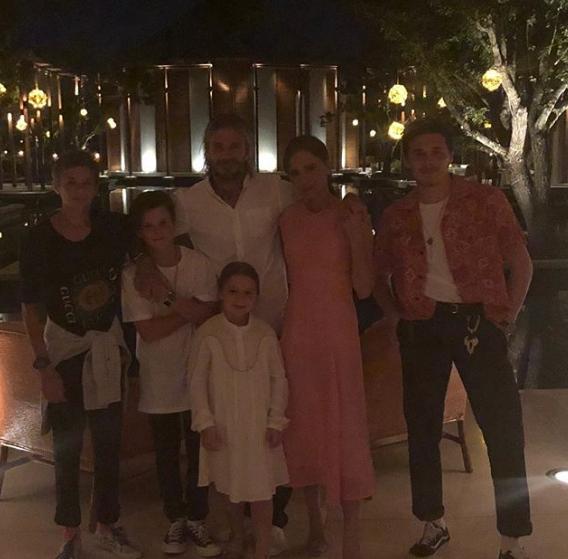 The Beckhams (Instagram)
