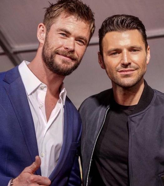 mark Wright Chris Hemsworth (Credit: instagram)