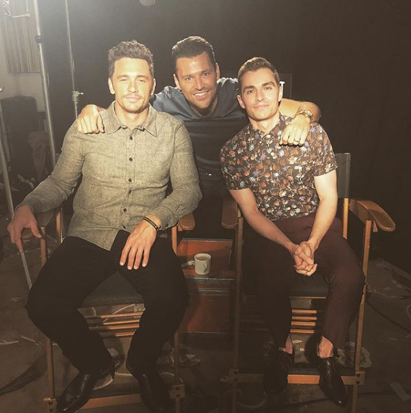 mark Wright with James and Dave Franco (Credit: Instagram)