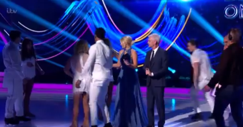 Max Evans fall Dancing On Ice (Credit: ITV)