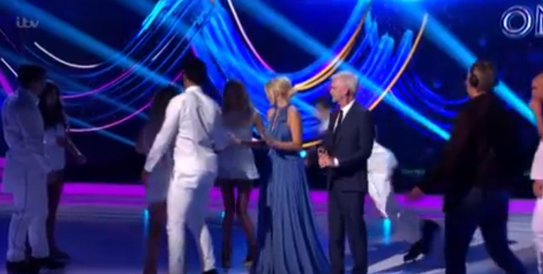 max Evans fall 2 Dancing On ice (Credit: ITV)