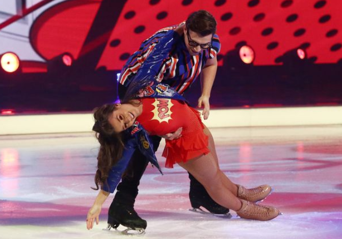 Brooke Vincent suffers wardrobe malfunction during Dancing On Ice performance