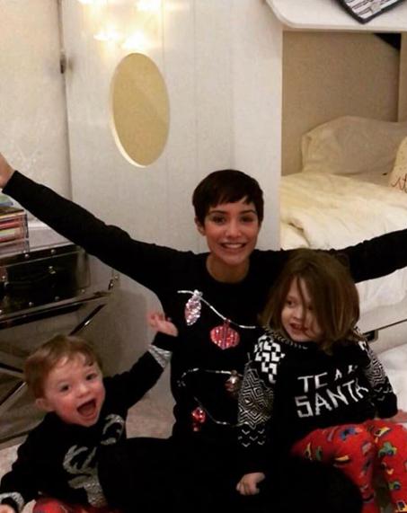 Frankie bridge and kids (Credit: Instagram)
