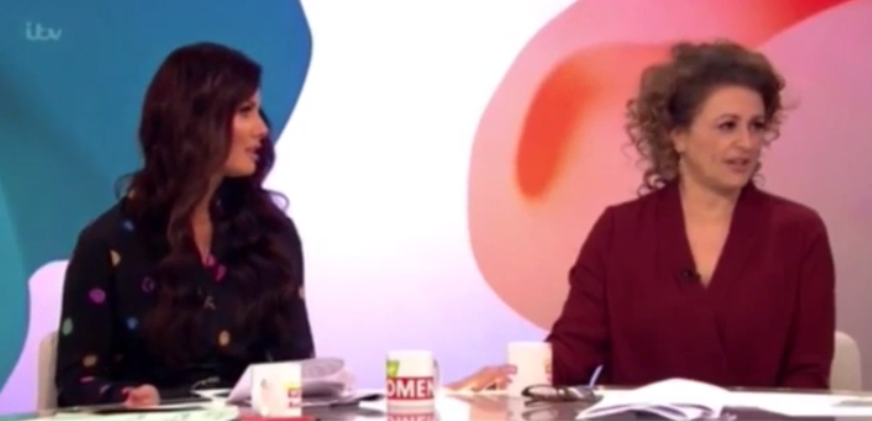 Rebekah Vardy and nadia Sawalha loose Women (Credit: ITV)